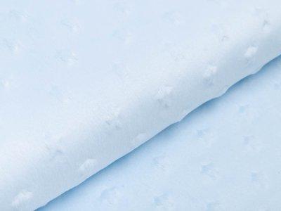 Hochwertiger Supersoft Plüsch Velboa - Sterne - helles blau
