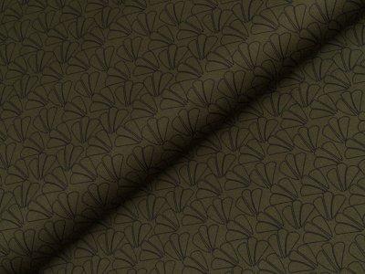 "Bedruckter Satin Milliblu´s ""Secret Garden"" Blütenblätter - olivgrün"