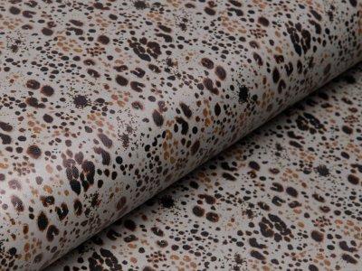 Lederimitat Digitaldruck - Animalprint - dunkles mint