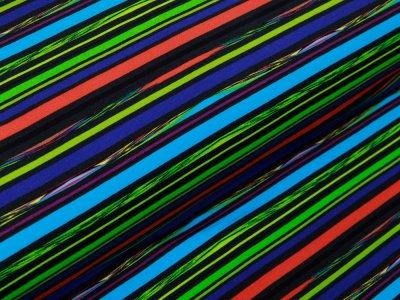Sweat French Terry Digitaldruck Stenzo - Racing Streifen - antharzit