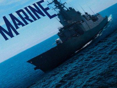 Sweat French Terry Digitaldruck Stenzo PANEL ca. 75 cm x 150 cm - Ocean is Calling-Marineschiff - marine