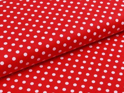 Webware Baumwolle Popeline - Punkte - rot