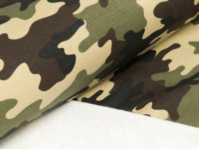 Angerauter Sweat - Camouflage - khaki