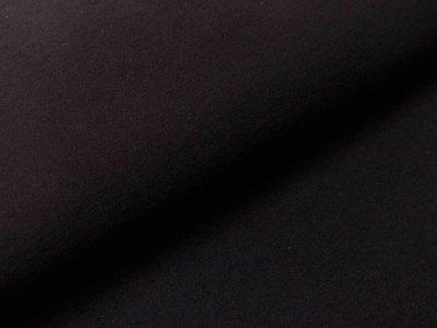 Bengaline Stretch-Stoff - uni schwarz