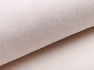 Baumwollfleece Organic Cotton - uni wollweiß