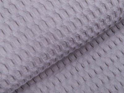 Waffelpiqué Baumwolle - Waffeloptik - helles grau