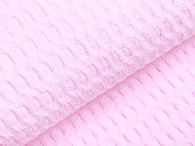 Waffelpiqué Baumwolle - Waffeloptik - rosa