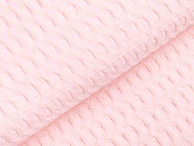 Waffelpiqué Baumwolle - Waffeloptik - lachs