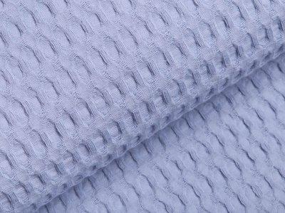 Waffelpiqué Baumwolle - Waffeloptik - rauchblau