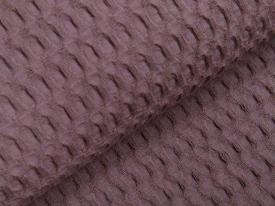 Waffelpiqué Baumwolle - Waffeloptik - schlamm