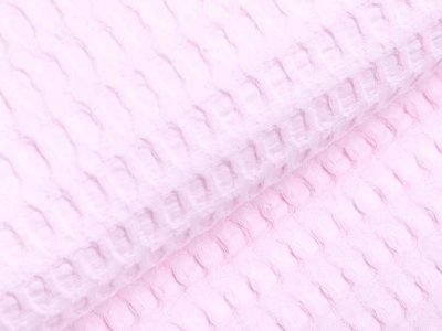 Waffelpiqué Baumwolle - Waffeloptik - zartes rosa