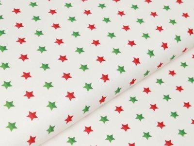 Webware Baumwolle Swafing Noel - Weihnachtliche Sterne- weiß