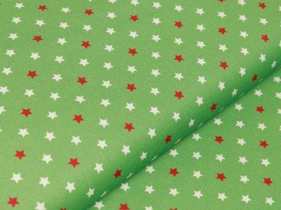 Webware Baumwolle Swafing Noel - Weihnachtliche Sterne- grün