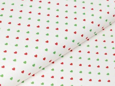 Webware Baumwolle Swafing Noel - Weihnachtsherzchen - weiß