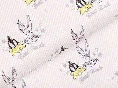 Webware Baumwolle Swafing - Looney Tunes Little Dreamer -  wollweiß