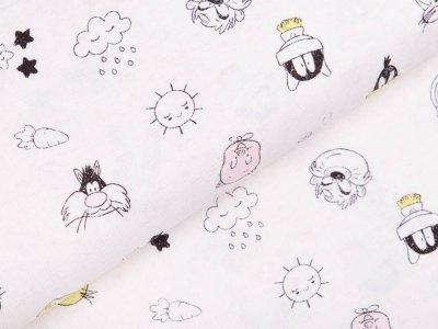 Webware Baumwolle Swafing - Looney Tunes Little Dreamer - weiß