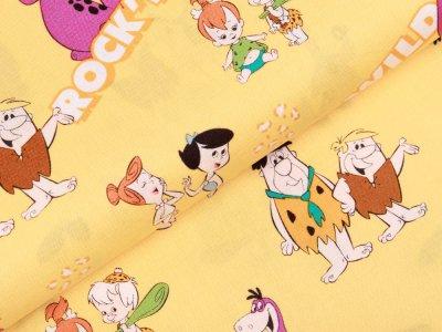 Webware Baumwolle Swafing - The Flintstones - gelb