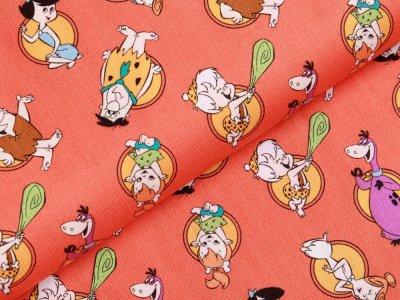 Webware Baumwolle Swafing - The Flintstones - dunkles orange