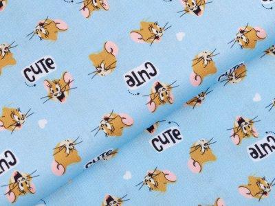 Webware Baumwolle Swafing - Tom and Jerry - hellblau
