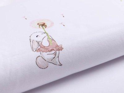 Jersey Digitaldruck Stenzo PANEL ca. 100 x 150cm - Pusteblumen und Häschen -weiß