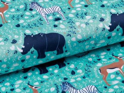 Struktur - Velvet - wilde Tiere - mint
