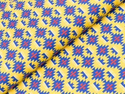 Canvas Hilco Lama Ikat - gelb