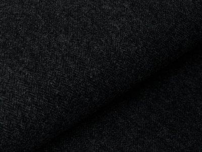 Mantelstoff - Chevrons - dunkles grau