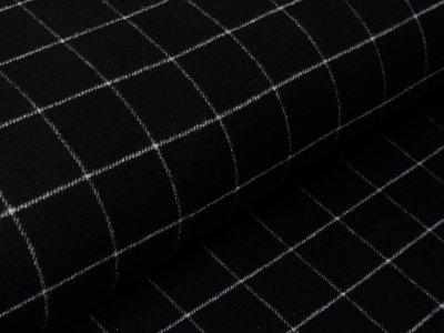 Mantelstoff - Karos 5 cm x 5 cm - schwarz