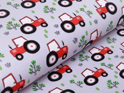 Jersey - Traktoren und Bäume - grau