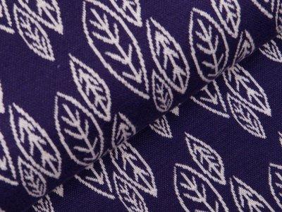 Jersey Jacquard Swafing Jills Leaves by Cherry Picking - Herbstblätter - violett