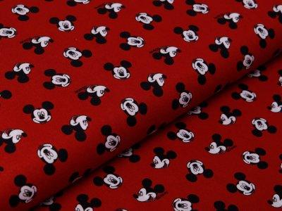 Webware Baumwolle Disney Micky Mouse - fröhlicher Micky -  rost