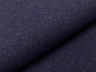Sweat French Terry - Konfetti - jeansblau