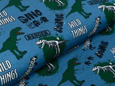 Jersey Swafing Klaas - wilde Dinos - jeansblau
