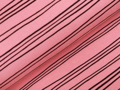 Angeraute Sweat Softtouch - krumme Streifen - altrosa