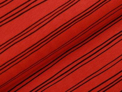 Angeraut Sweat Softtouch - krumme Streifen - terrakotta