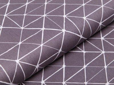Webware Baumwolle Swafing Kurt - Geometrische Linien - grau