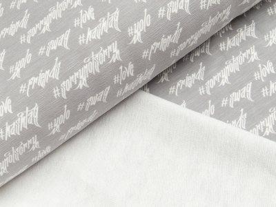Sweat Swafing Swag by Jolijou - Schriftzüge - meliert grau