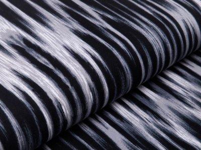 Viskose Twill - Zebrastreifen - schwarz