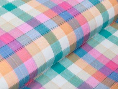 Webware Baumwolle - Karos ca. 2,5 cm x 2,5 cm - multicolor