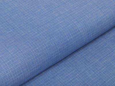 Webware Baumwolle - Kritzelmuster - blau
