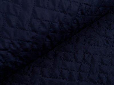 Leichter Rautenstepper Jackenstoff - Rechtecke - nachtblau