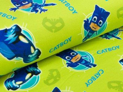 angerauter Sweat Swafing Entertainment One PJ Masks - Catboy - helles grün