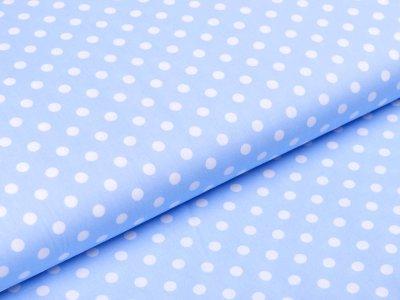 Webware Baumwolle Popeline - Punkte - helles blau