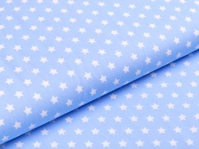 Webware Baumwolle Popeline - Sterne - blau