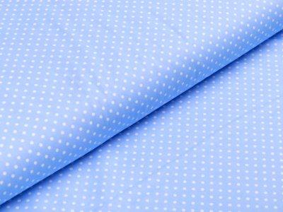 Webware Baumwolle Popeline -  mini Punkte - helles blau