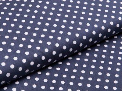 Webware Baumwolle Popeline - Punkte - dunkles grau