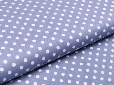 Webware Baumwolle Popeline - Punkte - helles grau