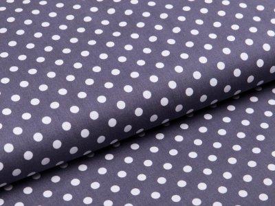 Webware Baumwolle Popeline - Punkte - grau