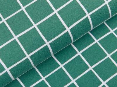 Angerauter Sweat Softtouch - Karos - altgrün