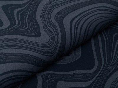 Sweat French Terry Modal Swafing Stone Layers by Thorsten Berger - stilisierte Gesteinsschichten - grau